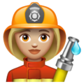 Woman Firefighter: Medium-Light Skin Tone on WhatsApp 2.19.352