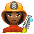 Woman Firefighter: Medium-Dark Skin Tone on WhatsApp 2.19.352