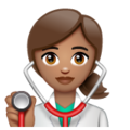 Woman Health Worker: Medium Skin Tone on WhatsApp 2.19.352
