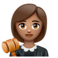 Woman Judge: Medium Skin Tone on WhatsApp 2.19.352