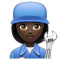 Woman Mechanic: Dark Skin Tone on WhatsApp 2.19.352