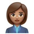 Woman Office Worker: Medium Skin Tone on WhatsApp 2.19.352