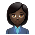 Woman Office Worker: Dark Skin Tone on WhatsApp 2.19.352