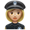 Woman Police Officer: Medium-Light Skin Tone on WhatsApp 2.19.352