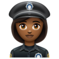 Woman Police Officer: Medium-Dark Skin Tone on WhatsApp 2.19.352