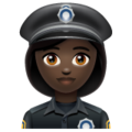 Woman Police Officer: Dark Skin Tone on WhatsApp 2.19.352
