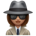 Woman Detective: Medium Skin Tone on WhatsApp 2.19.352