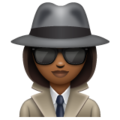 Woman Detective: Medium-Dark Skin Tone on WhatsApp 2.19.352