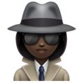 Woman Detective: Dark Skin Tone on WhatsApp 2.19.352