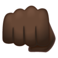Oncoming Fist: Dark Skin Tone on WhatsApp 2.19.352