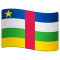 Flag: Central African Republic on WhatsApp 2.19.352