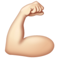 Flexed Biceps: Light Skin Tone on WhatsApp 2.19.352