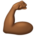 Flexed Biceps: Medium-Dark Skin Tone on WhatsApp 2.19.352