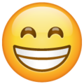 Beaming Face with Smiling Eyes on WhatsApp 2.19.352