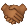 Handshake: Medium-Dark Skin Tone on WhatsApp 2.19.352