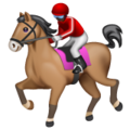 Horse Racing: Dark Skin Tone on WhatsApp 2.19.352