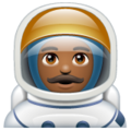 Man Astronaut: Medium-Dark Skin Tone on WhatsApp 2.19.352