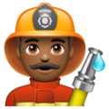 Man Firefighter: Medium-Dark Skin Tone on WhatsApp 2.19.352