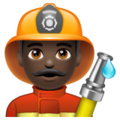 Man Firefighter: Dark Skin Tone on WhatsApp 2.19.352