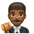Man Judge: Medium-Dark Skin Tone on WhatsApp 2.19.352