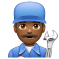 Man Mechanic: Medium-Dark Skin Tone on WhatsApp 2.19.352