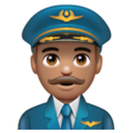 Man Pilot: Medium Skin Tone on WhatsApp 2.19.352