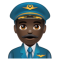 Man Pilot: Dark Skin Tone on WhatsApp 2.19.352