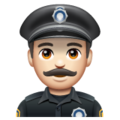 Man Police Officer: Light Skin Tone on WhatsApp 2.19.352