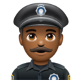 Man Police Officer: Medium-Dark Skin Tone on WhatsApp 2.19.352