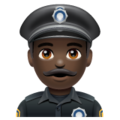 Man Police Officer: Dark Skin Tone on WhatsApp 2.19.352