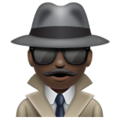 Man Detective: Dark Skin Tone on WhatsApp 2.19.352