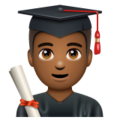 Man Student: Medium-Dark Skin Tone on WhatsApp 2.19.352