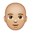 Man: Medium-Light Skin Tone, Bald on WhatsApp 2.19.352