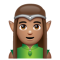 Man Elf: Medium Skin Tone on WhatsApp 2.19.352