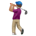 Man Golfing: Medium Skin Tone on WhatsApp 2.19.352