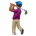 Man Golfing: Medium-Dark Skin Tone on WhatsApp 2.19.352