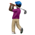 Man Golfing: Dark Skin Tone on WhatsApp 2.19.352