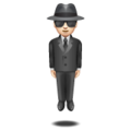 Person in Suit Levitating: Light Skin Tone on WhatsApp 2.19.352