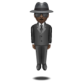 Person in Suit Levitating: Dark Skin Tone on WhatsApp 2.19.352