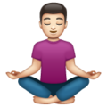 Man in Lotus Position: Light Skin Tone on WhatsApp 2.19.352