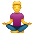 Man in Lotus Position on WhatsApp 2.19.352