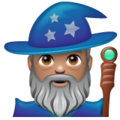 Man Mage: Medium Skin Tone on WhatsApp 2.19.352