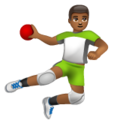 Man Playing Handball: Medium-Dark Skin Tone on WhatsApp 2.19.352