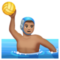 Man Playing Water Polo: Medium Skin Tone on WhatsApp 2.19.352