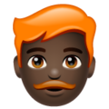 Man: Dark Skin Tone, Red Hair on WhatsApp 2.19.352