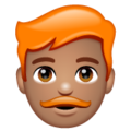 Man: Medium Skin Tone, Red Hair on WhatsApp 2.19.352