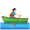 Man Rowing Boat: Light Skin Tone on WhatsApp 2.19.352