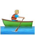 Man Rowing Boat: Medium-Light Skin Tone on WhatsApp 2.19.352