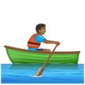 Man Rowing Boat: Medium-Dark Skin Tone on WhatsApp 2.19.352
