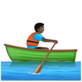 Man Rowing Boat: Dark Skin Tone on WhatsApp 2.19.352